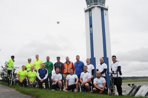 OAK HARBOR, Wash. (May 30, 2013) A group photo of the Sailors, stationed on Naval Air Station Whidbey Island, who participated in Bike to Work Month, May 30. National Bike Month celebrates the unique power of the bicycle to save money, save time, preserve a healthy lifestyle and the environment, and to explore community or to get to a destination. (U.S. Navy photo by Mass Communication Specialist 1st Class Joan E. Jennings/Released)