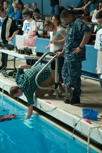 BREMERTON, Wash. (June 01, 2013) Kitsap County area high school students compete in the remotely operated vehicle challenge at the Olympic High School Aquatics Facility. The competition allows students to apply science, technology, engineering, and mathematics skills while building remotely operated vehicles to perform tasks underwater. (U.S. Navy photo by Mass Communication Specialist 3rd Class Chris Brown/Released)