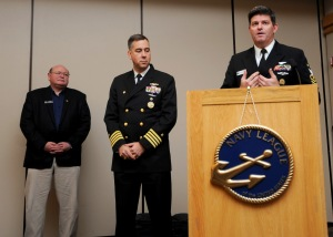 141202-N-EC099-010 SILVERDALE, Wash. (Dec. 09, 2014) Naval Base Kitsap Command Master Chief David Lynch announces the Sailors of the Year, during the fiscal year 2014 Sailor of the Year awards. The Olympic Navy League hosted a luncheon to award the 2014 Sailors of the Year from Naval Base Kitsap. (U.S. Navy photo by Mass Communication Specialist 3rd Class Charles D. Gaddis IV/Released)