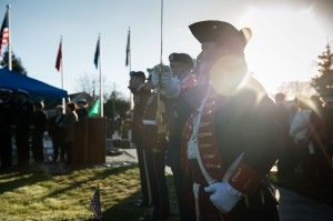 141213-N-JY507-038 BREMERTON, Wash. (Dec. 13, 2014) – Service members salute during colors at Bremerton Wash. Ivy Green Cemetery Dec. 13. The ceremony was held by Wreaths Across America and Navy Wives Club of America Kitsap 46 to commemorate all the military members who have given their lives in service to our country. (U.S. Navy photo by Mass Communication Specialist 3rd Class Seth Coulter/ Released)