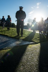 141213-N-JY507-045 BREMERTON, Wash. (Dec. 13, 2014) – Civilians and service members replace flags marking the graves of veterans with wreaths at Bremerton Wash. Ivy Green Cemetery Dec. 13. The ceremony was held by Wreaths Across America and Navy Wives Club of America Kitsap 46 to commemorate all the military members who have given their lives in service to our country. (U.S. Navy photo by Mass Communication Specialist 3rd Class Seth Coulter/ Released)
