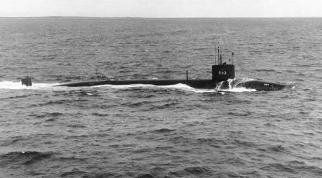 USS Thresher, At Sea