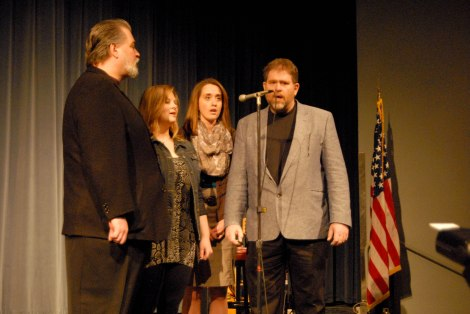 150114-N-EC099-014 KEYPORT,Wash. (Jan. 14, 2015) – Naval Undersea Warfare Center employees sing the National Anthem during an annual MLK ceremony at the Naval Undersea Museum Keyport. Dr. Martin Luther King Jr. was one of the youngest Nobel Peace prize recipients. (US Navy photo by Mass Communication Specialist 3rd Class Charles D. Gaddis IV/Released)