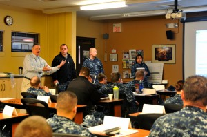 150313-N-EC099-011 SILVERDALE, Wash. (Mar. 13, 2015) – Chris Brady, a Work and Family Life Consultant at Naval Base Kitsap Bangor, counsels a command financial specialist class. Fleet and Family Support Center hosts command financial specialist training classes to improve the financial responsibility of service members. (US Navy photo by Mass Communication Specialist 3rd Class Charles D. Gaddis IV/Released)