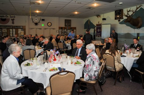 150515-N-EC099-026 BREMERTON, Wash. (May 15, 2015) Members of Military Officers Association of America Kitsap Chapter prepare to award junior officers during their annual luncheon. The MOAA has been supporting the military for over 39 years.(U.S. Navy photo by Mass Communication Specialist 3rd Class Charles D. Gaddis IV/Released)