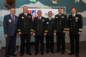 150515-N-EC099-064 BREMERTON, Wash. (May 15, 2015) Officers awarded from Military Officers Association of America Kitsap Chapter pose for a group photo after receiving their awards during their annual luncheon. The MOAA has been supporting the military for over 39 years.(U.S. Navy photo by Mass Communication Specialist 3rd Class Charles D. Gaddis IV/Released)
