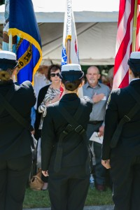 150610-N-JY507-098 GARDINER, Wash. (June 10, 2015) Students from Marysville Pilchuck High School's Naval Junior Officer Training Corps Cadre parade the colors during a ceremony commemorating the 50th anniversary of Medal of Honor recipient Marvin Shields actions in Vietnam. Sailors, members of the team and guests gathered at Gardiner Cemetery to remember his actions and heroism. (U.S. Navy Photo by Mass Communication Specialist 3rd Class Seth Coulter/Released)