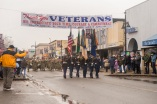 AUBURN, Wash (November 5, 2016) The color guard leads the head of Auburn's Veterans Day Parade down Main Street, Nov. 5. The parade, which is in its 51st year, had over 200 entries and nearly 6,000 participants. (U.S. Navy photo by Petty Officer 2nd Class Jacob G. Sisco/Released)