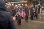 AUBURN, Wash (November 5, 2016) Navy Band Northwest's Marching Band marches down Main Street during Auburn's Veterans Day Parade, Nov. 5. The parade, which is in its 51st year, had over 200 entries and nearly 6,000 participants. (U.S. Navy photo by Petty Officer 2nd Class Jacob G. Sisco/Released)