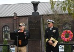 EVERETT, Wash. (Nov. 11, 2016) Bradford Pilkenton, Chairman of the Memorial Day Club, speaks during the annual Snohomish County Courthouse Eternal Flame Memorial Veteran's Day ceremony in Everett. The ceremony began in 1972 when the Evergreen Chapter American Gold Star Mothers, Inc. dedicated the eternal flame to the veterans of Snohomish County. (U.S. Navy photo by Petty Officer 3rd Class Joseph Montemarano/Released)