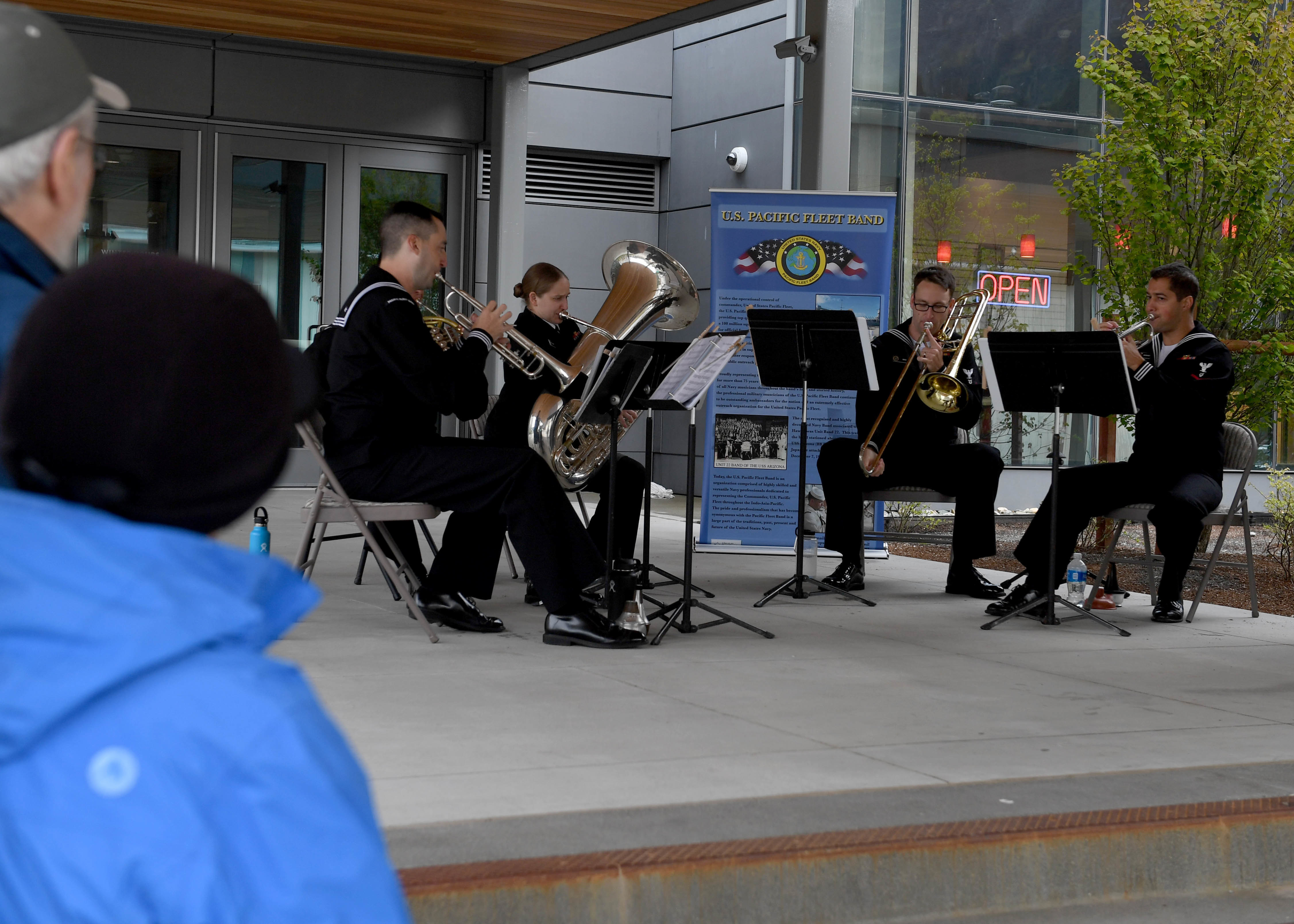 Photos: U S  Pacific Fleet Band Performs in Juneau