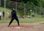 PORTLAND, Ore. (June 11, 2017) – Master-at-Arms 2nd Class Prince Millsap, a native of Chicago, assigned to the submarine tender USS Frank Cable (AS 40), takes his turn hitting during a softball game against Sailors from the guided-missile cruiser USS Bunker Hill (CG 52), June 11. The Sailors are in Portland to take part in Portland Fleet Week and Rose Festival. The festival and Portland Fleet Week are a celebration of the sea services with Sailors, Marines and Coast Guard members from the U.S. and Canada making the city a port of call. (U.S. Navy photo by Mass Communication Specialist 3rd Class Josh Coté/Released)