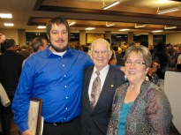 Schram with daughter and grandson Apprentice Graduation