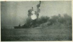 USS St Lo explosion after kamikaze attack