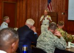 170803-N-MT581-274 SEATTLE (Aug. 03, 2017) Vice Adm. Nora Tyson, commander, U.S. 3rd Fleet, speaks at a Defense Support and Civilian Authorities (DSCA) senior leadership seminar held at the Jackson Federal Building during Seattle Seafair Fleet Week. Seafair Fleet Week is an annual celebration of the sea services wherein Sailors, Marines and Coast Guard members from visiting U.S. Navy and Coast Guard ships and ships from Canada make the city a port of call. (U.S. Navy photo by Mass Communication Specialist 2nd Class Curtis D. Spencer/Unreleased.)
