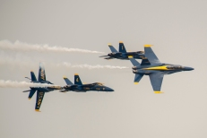 170805-N-ZP059-537 SEATTLE (Aug. 5, 2017) – The U.S. Navy Flight Demonstration Squadron, the Blue Angels, fly in formation over Lake Washington while performing at an airshow during Seattle's 68th annual Seafair Fleet Week. Seafair Fleet Week is an annual celebration of the sea services wherein Sailors, Marines and Coast Guard members from visiting U.S. Navy and Coast Guard ships and ships from Canada make the city a port of call. (U.S. Navy photo by Mass Communication Specialist 2nd Class Jacob G. Sisco/Released)