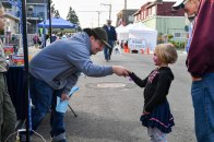 170916-N-EC099-042 KEYPORT, Wash. (Sept. 16, 2017) - Joseph Waldbillig, a Cub Scout den leader, shakes hands during Keyport's annual 2017 Keyport Fest celebration. Keyport Fest, hosted by the Keyport Improvement Club, is open to all and increases the morale and connection between Keyport and its surrounding communities. (U.S. Navy photo by Mass Communication Specialist 3rd Class Charles D. Gaddis IV/Released)