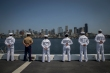 180731-M-OI329-1298 SEATTLE (Aug 1, 2018) U.S Marines and Sailors man the rails aboard amphibious transport dock ship USS Somerset (LPD 25) during Seafair Fleet Week. Seafair Fleet Week is an annual celebration of the sea services wherein Sailors, Marines and Coast Guard members from visiting U.S. Navy and Coast Guard ships and ships from Canada make the city a port of call. (U.S. Marine Corps photo by Cpl. Joseph Prado)