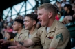 180731-M-OI329-2002 SEATTLE (Aug 1, 2018) U.S Marines attend a Mariners baseball game during the Seafair Fleet Week. Seafair Fleet Week is an annual celebration of the sea services wherein Sailors, Marines and Coast Guard members from visiting U.S. Navy and Coast Guard ships and ships from Canada make the city a port of call. (U.S. Marine Corps photo by Cpl. Joseph Prado)
