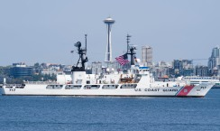 180731-N-KH214-0105 SEATTLE (July 31, 2018) U.S. Coast Guard Cutter Mellon (WHEC 717) participates in the Parade of Ships in Elliott Bay during the 69th annual Seafair Fleet Week. Seafair Fleet Week is an annual celebration of the sea services wherein Sailors, Marines and Coast Guard members from visiting U.S. Navy and Coast Guard ships and ships from Canada make the city a port of call. (U.S. Navy photo by Mass Communication Specialist 2nd Class Scott Wood/Released)