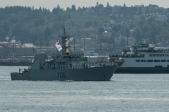 180731-N-SH284-0174 SEATTLE (July 31, 2018) Kingston-class coastal defence vessel HMCS Yellowknife (706) participates in a parade of ships in Elliott Bay during the 69th annual Seafair Fleet Week. Seafair Fleet Week is an annual celebration of the sea services wherein Sailors, Marines and Coast Guard members from visiting U.S. Navy and Coast Guard ships and ships from Canada make the city a port of call. (U.S. Navy photo by Mass Communication Specialist 2nd Class Vaughan Dill/Released)