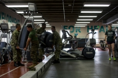 180801-M-OI329-1053 SEATTLE (Aug 1, 2018) U.S Marines and Sailors assist in moving equipment at the Young Men's Christian Association during Seafair Fleet Week. Seafair Fleet Week is an annual celebration of the sea services wherein Sailors, Marines and Coast Guard members from visiting U.S. Navy and Coast Guard ships and ships from Canada make the city a port of call. (U.S. Marine Corps photo by Cpl. Joseph Prado)