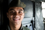 180801-M-ST406-1022 SEATTLE ( August 1, 2018) U.S. Marine Corps Cpl. Jackson Chang, a crew chief with Marine Medium Tiltrotor Squadron 364, poses for a portrait during the 69th annual Seafair Fleet Week. Seafair Fleet Week is an annual celebration of the sea services wherein Sailors, Marines and Coast Guard members from visiting U.S. Navy and Coast Guard ships and ships from Canada make the city a port of call. (U.S. Marine Corps photo by Lance Cpl. Ana S. Madrigal)