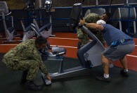 180801-N-KH214-0034 SEATTLE (Aug. 1, 2018) Sailors from the amphibious transport dock ship USS Somerset (LPD 25) volunteer at the local YMCA in downtown Seattle as part of the 69th annual Seafair Fleet Week. Seafair Fleet Week is an annual celebration of the sea services wherein Sailors, Marines and Coast Guard members from visiting U.S. Navy and Coast Guard ships and ships from Canada make the city a port of call. (U.S. Navy photo by Mass Communication Specialist 2nd Class Scott Wood/Released)