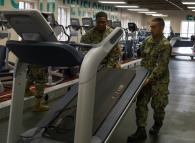 180801-N-KH214-0067 SEATTLE (Aug. 1, 2018) Sailors from the amphibious transport dock ship USS Somerset (LPD 25) help lift a treadmill at the local YMCA in downtown Seattle as part of the 69th annual Seafair Fleet Week. Seafair Fleet Week is an annual celebration of the sea services wherein Sailors, Marines and Coast Guard members from visiting U.S. Navy and Coast Guard ships and ships from Canada make the city a port of call. (U.S. Navy photo by Mass Communication Specialist 2nd Class Scott Wood/Released)