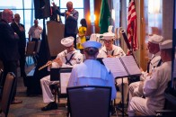 180801-N-SH284-0016 SEATTLE (Aug. 1, 2018) Members of Navy Band Northwest perform the National Anthem during a Seattle Rotary Club luncheon at Seattle's Bell Harbor Conference Center as part of the 69th annual Seafair Fleet Week. Seafair Fleet Week is an annual celebration of the sea services wherein Sailors, Marines and Coast Guard members from visiting U.S. Navy and Coast Guard ships and ships from Canada make the city a port of call. (U.S. Navy photo by Mass Communication Specialist 2nd Class Vaughan Dill/Released)