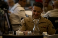180802-M-OI329-1102 (August 2, 2018) U.S Marine Corps Cpl. Benjamin Googe volunteers at The Garden Club Retirement Community during Seafair Fleet Week in Seattle, Wash., Aug. 2, 2018. Seafair Fleet Week is an annual celebration of the sea services wherein Sailors, Marines and Coast Guard members from visiting U.S. Navy and Coast Guard ships and ships from Canada make the city a port of call. (U.S. Marine Corps photo by Cpl. Joseph Prado)