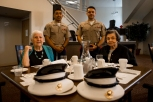 180802-M-OI329-1169 (August 2, 2018) U.S Marine Corps Cpl. Julian Garcia, left, and Cpl. Benjamin Googe volunteer at The Garden Club Retirement Community during Seafair Fleet Week. Seafair Fleet Week is an annual celebration of the sea services wherein Sailors, Marines and Coast Guard members from visiting U.S. Navy and Coast Guard ships and ships from Canada make the city a port of call. (U.S. Marine Corps photo by Cpl. Joseph Prado)