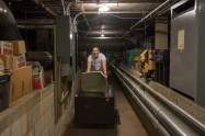 180802-N-DA737-0010 SEATTLE (Aug. 2, 2018) Operations Specialist 3rd Class Rachel Westcoat, assigned to U.S. Coast Guard cutter John Midgett (WMEC 726) moves items from storage at the Pacific Science Center during a community relations event as part of Seattle Seafair Fleet Week. Seafair Fleet Week is an annual celebration of the sea services wherein Sailors, Marines and Coast Guard members from visiting U.S. Navy and Coast Guard ships and ships from Canada make the city a port of call. (U.S. Navy photo by Mass Communication Specialist 2nd Class Jonathan Jiang/Released)