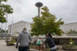 180802-N-DA737-0142 SEATTLE (Aug. 2, 2018) Ship's Serviceman 3rd Class Apata Abedemi and Culinary Specialist 1st Class Michael Kelly, assigned to Transient Personnel Unit Puget Sound, move items from storage at the Pacific Science Center during a community relations event as part of Seattle Seafair Fleet Week. Seafair Fleet Week is an annual celebration of the sea services wherein Sailors, Marines and Coast Guard members from visiting U.S. Navy and Coast Guard ships and ships from Canada make the city a port of call. (U.S. Navy photo by Mass Communication Specialist 2nd Class Jonathan Jiang/Released)