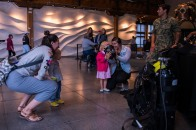 180802-N-SH284-0054 SEATTLE (August 02, 2018) A child tries on a dive mask at a static display presented by the Naval Station Everett dive locker at the Seattle Aquarium during the 69th annual Seafair Fleet Week. Seafair Fleet Week is an annual celebration of the sea services wherein Sailors, Marines and Coast Guard members from visiting U.S. Navy and Coast Guard ships and ships from Canada make the city a port of call. (U.S. Navy photo by Mass Communication Specialist 2nd Class Vaughan Dill/Released)