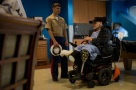 180803-M-OI329-1007 SEATTLE (Aug. 3, 2018) U.S Marines and Sailors visit the Veteran's Affairs Puget Sound Health Care System during Seafair Fleet Week in Seattle. Seafair Fleet Week is an annual celebration of the sea services wherein Sailors, Marines and Coast Guard members from visiting U.S. Navy and Coast Guard ships and ships from Canada make the city a port of call. (U.S. Marine Corps photo by Cpl. Joseph Prado)