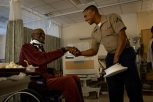 180803-M-OI329-1012 SEATTLE (Aug. 3, 2018) U.S Marines and Sailors visit the Veteran's Affairs Puget Sound Health Care System during Seafair Fleet Week in Seattle. Seafair Fleet Week is an annual celebration of the sea services wherein Sailors, Marines and Coast Guard members from visiting U.S. Navy and Coast Guard ships and ships from Canada make the city a port of call. (U.S. Marine Corps photo by Cpl. Joseph Prado)