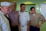 180803-M-ST406-1007 SEATTLE ( August 3, 2018) U.S. Marines and Sailors volunteer at the Pike Place Senior Center during Seafair Fleet Week. Seafair Fleet Week is an annual celebration of the sea services wherein Sailors, Marines and Coast Guard members from visiting U.S. Navy and Coast Guard ships and ships from Canada make the city a port of call. ( U.S. Marine Corps photo by Lance Cpl. Ana S. Madrigal)