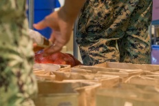 180803-M-ST406-2012 SEATTLE (Aug. 3, 2018) U.S. Marines and Sailors volunteer at Jewish Family Service during Seafair Fleet Week. Seafair Fleet Week is an annual celebration of the sea services wherein Sailors, Marines and Coast Guard members from visiting U.S. Navy and Coast Guard ships and ships from Canada make the city a port of call. (U.S. Marine Corps photo by Lance Cpl. Ana S. Madrigal)