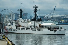 180803-N-SH284-0016 SEATTLE (August 3, 2018) U.S. Coast Guard Cutter Mellon (WHEC-717) arrives at pier 66 along the Seattle waterfront during the 69th annual Seafair Fleet Week. Seafair Fleet Week is an annual celebration of the sea services wherein Sailors, Marines and Coast Guard members from visiting U.S. Navy and Coast Guard ships and ships from Canada make the city a port of call. (U.S. Navy photo by Mass Communication Specialist 2nd Class Vaughan Dill/Released)