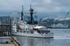 180803-N-SH284-0025 SEATTLE (August 3, 2018) U.S. Coast Guard Cutter Mellon (WHEC-717) arrives at pier 66 along the Seattle waterfront during the 69th annual Seafair Fleet Week. Seafair Fleet Week is an annual celebration of the sea services wherein Sailors, Marines and Coast Guard members from visiting U.S. Navy and Coast Guard ships and ships from Canada make the city a port of call. (U.S. Navy photo by Mass Communication Specialist 2nd Class Vaughan Dill/Released)