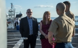 180804-M-ST406-2017 SEATTLE ( August 5, 2018) U.S. Marines and guests attend a reception aboard amphibious transport dock ship USS Somerset (LPD 25) during Seattle Fleet Week. Seafair Fleet Week is an annual celebration of the sea services wherein Sailors, Marines and Coast Guard members from visiting U.S. Navy and Coast Guard ships and ships from Canada make the city a port of call. ( U.S. Marine Corps photo by Lance Cpl. Ana S. Madrigal)