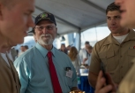180804-M-ST406-2039 SEATTLE ( August 5, 2018) Phil Fortuanato with the Washington State Senate, 31st District, socializes with U.S. Marines at a reception aboard amphibious transport dock ship USS Somerset (LPD 25) during Seattle Fleet Week. Seafair Fleet Week is an annual celebration of the sea services wherein Sailors, Marines and Coast Guard members from visiting U.S. Navy and Coast Guard ships and ships from Canada make the city a port of call. ( U.S. Marine Corps photo by Lance Cpl. Ana S. Madrigal)