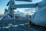 180804-M-ST406-2090 SEATTLE ( August 5, 2018) U.S. Marines and Sailors attend a reception aboard amphibious transport dock ship USS Somerset (LPD 25) during Seattle Fleet Week. Seafair Fleet Week is an annual celebration of the sea services wherein Sailors, Marines and Coast Guard members from visiting U.S. Navy and Coast Guard ships and ships from Canada make the city a port of call. ( U.S. Marine Corps photo by Lance Cpl. Ana S. Madrigal)