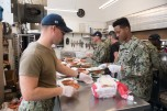 180804-N-DA737-0031 SEATTLE (August 4, 2018) Sailors assigned to amphibious transport dock ship USS Somerset (LPD 25), prepare meals at Union Gospel Mission during a Seattle's Seafair Fleet Week community relations event. Seafair Fleet Week is an annual celebration of the sea services wherein Sailors, Marines and Coast Guard members from visiting U.S. Navy and Coast Guard ships and ships from Canada make the city a port of call. (U.S. Navy photo by Mass Communication Specialist 2nd Class Jonathan Jiang/Released)