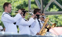 180804-N-KH214-0363 SEATTLE (August 4, 2018) Navy Band Northwest performs on stage during Seafair Weekend at Genesee Park as part of the 69th annual Seafair Fleet Week. Seafair Fleet Week is an annual celebration of the sea services wherein Sailors, Marines and Coast Guard members from visiting U.S. Navy and Coast Guard ships and ships from Canada make the city a port of call. (U.S. Navy photo by Mass Communication Specialist 2nd Class Scott Wood/Released)