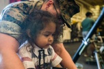 180805-M-ST406-1090 SEATTLE ( August 5, 2018) A child participates in a tour aboard amphibious transport dock ship USS Somerset (LPD 25) during Seattle Fleet Week. Seafair Fleet Week is an annual celebration of the sea services wherein Sailors, Marines and Coast Guard members from visiting U.S. Navy and Coast Guard ships and ships from Canada make the city a port of call. ( U.S. Marine Corps photo by Lance Cpl. Ana S. Madrigal)