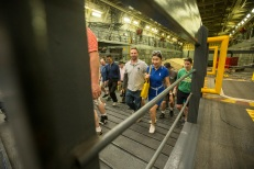 180805-M-ST406-1125 SEATTLE (August 5, 2018) Civilians participate in a tour aboard amphibious transport dock ship USS Somerset (LPD 25) during Seattle Fleet Week. Seafair Fleet Week is an annual celebration of the sea services wherein Sailors, Marines and Coast Guard members from visiting U.S. Navy and Coast Guard ships and ships from Canada make the city a port of call. ( U.S. Marine Corps photo by Lance Cpl. Ana S. Madrigal)