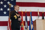 181108-N-DA737-0030 EVERETT, Wash. (Nov. 8, 2018) Capt. Mike Davis, commanding officer of Naval Station Everett (NSE), delivers the opening remarks during the annual NSE Veterans Day ceremony. Veterans Day honors veterans, past and present, who have served in the United States Armed Forces. (U.S. Navy photo by Mass Communication Specialist 2nd Class Jonathan Jiang/Released)