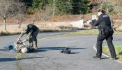 181108-N-KH214-0038 OAK HARBOR, Wash. (Nov. 8, 2018) Naval Air Station (NAS) Whidbey Island base security forces neutralize a hostile target while participating in a drill scenario for the anti-terrorism exercise Reliant Defense on Whidbey Island. Reliant Defense is an anti-terrorism and force-protection exercise conducted to ensure that the Navy is ready to respond to changing and dynamic threats at all times. (U.S. Navy photo by Mass Communication Specialist 2nd Class Scott Wood/Released)